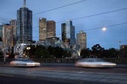 Australia, Victoria, Melbourne, StKilda road, rush hours