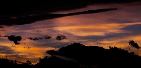 Italy, piedmontese sky in may