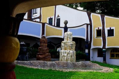 Austria, Styria, Bad Blumau spa, Hundetwasser architecure
