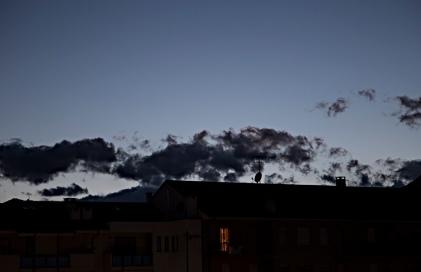 Italy, piedmontese sky in july