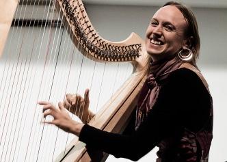 Italy, Turin, Bardonecchia Harp Festival, Harriet Earis playing