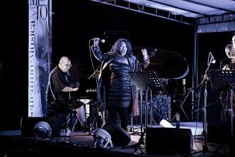 Italy, Turin, MITO Festival, Montegrappa Military Base, Denise King, Massimo Ferraò piano, Aldo Zunino double bass