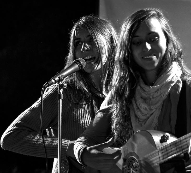 Italy, Turin, Mappamondo Festival, La Paranza del Geco, Giulia Provenzano guitar, Alessia Cravero accordeon