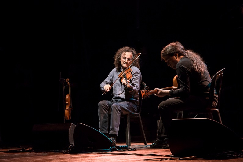 Italy, Turin, MITO Festival, Irish Masters of Tradition concert, Martin Hayes violin, Seamie O'Dowd guitar