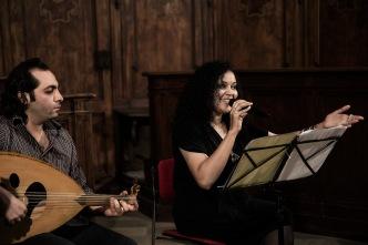 Italy, Turin, Chivasso, S.Maria degli Angeli church, Sakina Al Azami Ensemble (Morocco)