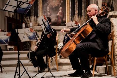 Italy, Turin, Susa Valley, Altenote Festival, Maestro Guido Rimonda violinist, Camerata Ducale Orchestra in S.Restituto church, Sauze di Cesana