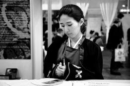 Italy, Turin, Salone del Gusto-Terra Madre 2014, Korean stand