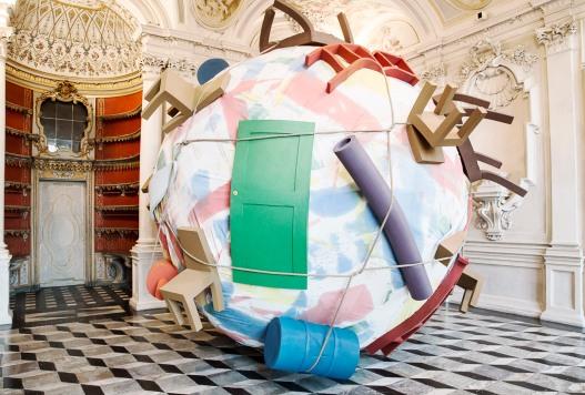 Italy, Piedmont, Rivoli Castle Contemporary Art Museum, Claes Oldenburg, Houseball