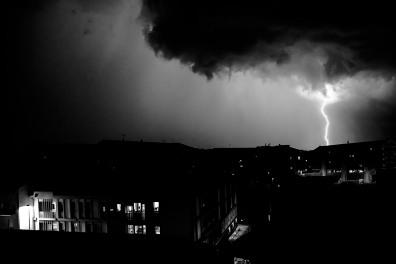 Italy, Piedmont, Rivoli, storm