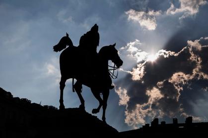 Italy, Piedmont, Turin, Equestrian Monument to Alfonso Lamarmora (Grimaldi, 1891)