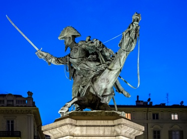 Italy, Piedmont, Turin, Equestrian Monument to Ferdinando of Savoy (Balzico, 1877)