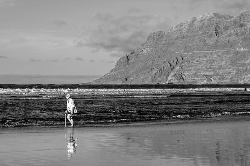 Spain,Canary Islands, Lanzarote, Caleta de Famara, The Old Man and the Sea / Il Vecchio e il Mare / El Viejo y el Mar / Le Vieil Homme et la Mer