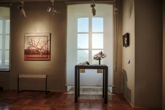 Italy, Aosta Valley, Chatillon, Museo Castel Gamba, Luciano Finessi, Albero rosso che vive, 2010