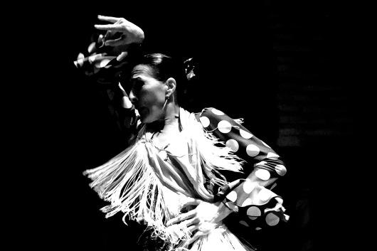 Spain, Sivilla, Museo del Flamenco, flamenco dancers, dress: bata de cola