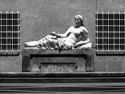 Italy, Piedmont, Turin, Dora Riparia river monumental fountain