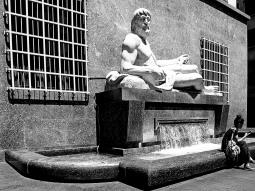Italy, Piedmont, Turin, Po river monumental fountain,