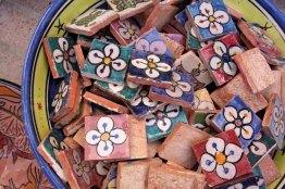 marocco, essaouira, tessere di ceramica