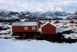 Norway, Lofoten Islands, rorbuer, fishermen houses